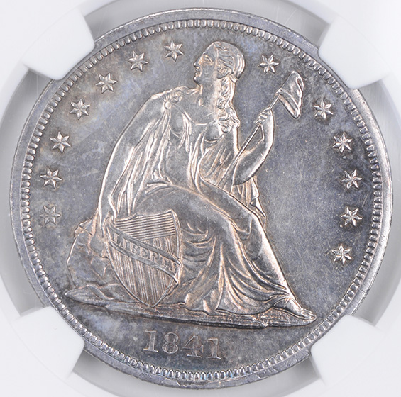Picture of 1841 LIBERTY SEATED S$1, NO MOTTO PR63+