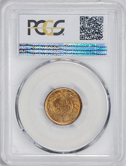 Picture of 1867 INDIAN BRONZE 1C MS65 Red