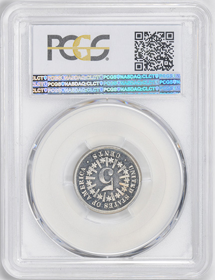 Picture of 1867 SHIELD 5C, RAYS PR66 Cameo