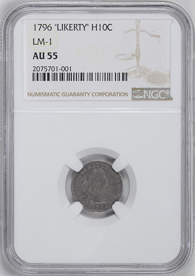 Picture of 1796 DRAPED BUST H10C AU55