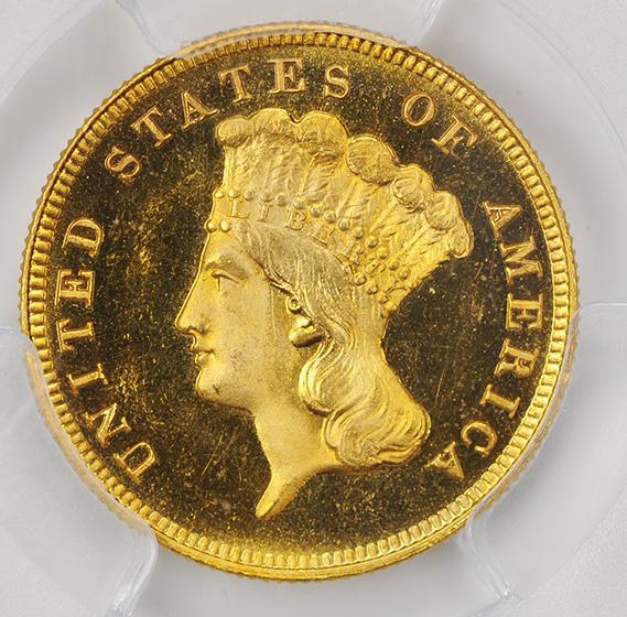 Picture of 1887 INDIAN PRINCESS $3 PR66 Deep Cameo