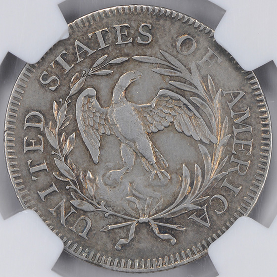 Picture of 1796 DRAPED BUST 25C, SMALL EAGLE XF45