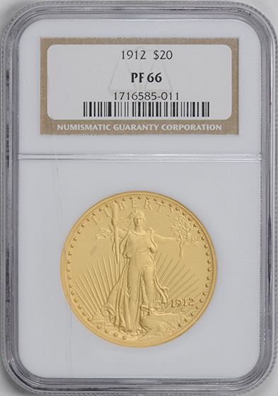 Picture of 1912 ST. GAUDENS $20 PR66