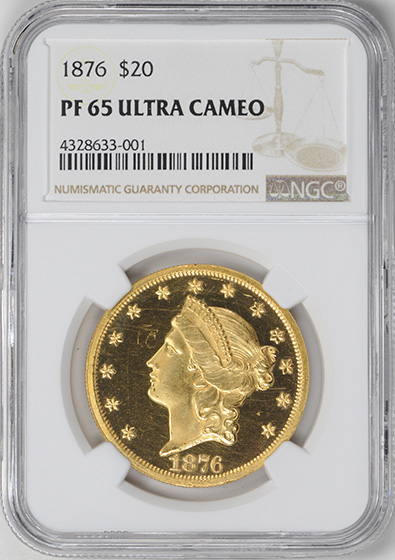 Picture of 1876 LIBERTY HEAD $20 PR65 Deep Cameo