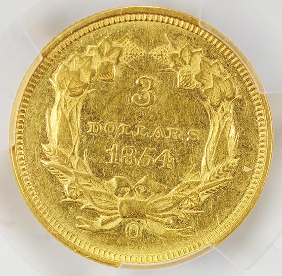 Picture of 1854-O INDIAN PRINCESS $3 AU58