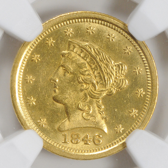 Picture of 1846-O LIBERTY $2 1/2 MS63+