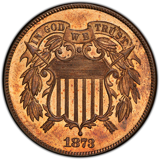 Picture of 1873 2C, CLOSED 3 PR65 Red