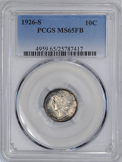 Picture of 1926-S MERCURY 10C MS65 Full Bands