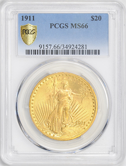 Picture of 1911 ST. GAUDENS $20 MS66