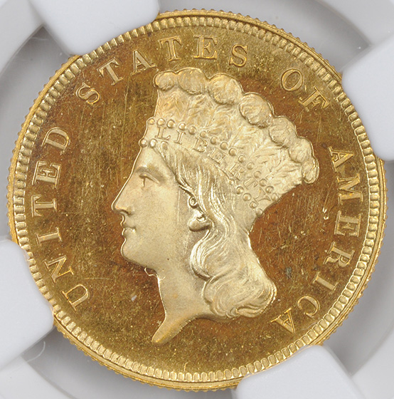 Picture of 1887 INDIAN PRINCESS $3 PR66 Deep Cameo