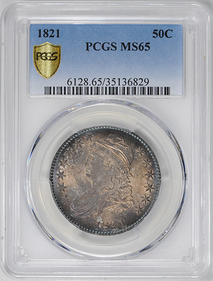 Picture of 1821 CAPPED BUST 50C MS65+