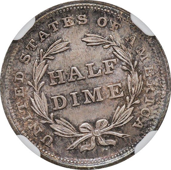 Picture of 1837 LIBERTY SEATED H10C, NO STARS, SMALL DATE MS67
