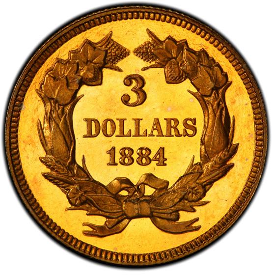 Picture of 1884 INDIAN PRINCESS $3 PR66 Deep Cameo