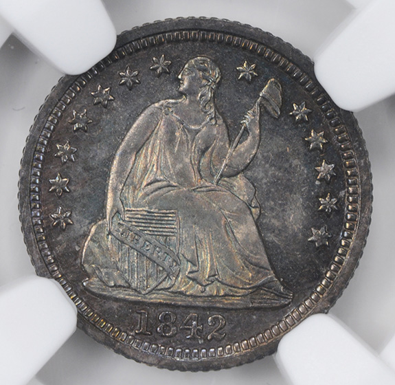 Picture of 1842 LIBERTY SEATED H10C PR65+