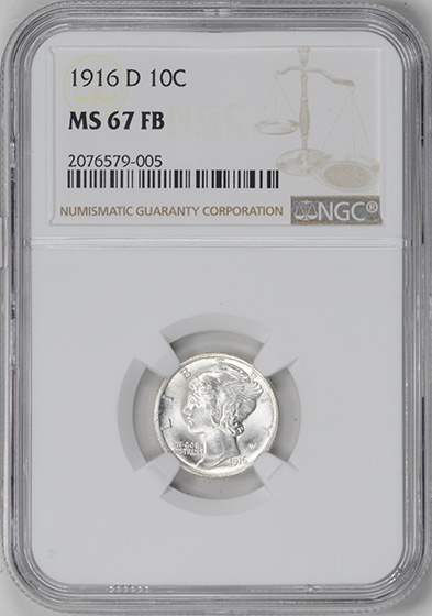 Picture of 1916-D MERCURY 10C MS67 Full Bands