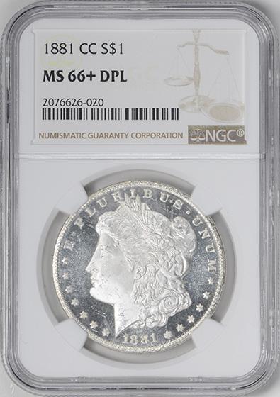 Picture of 1881-CC MORGAN S$1 MS66+ DMPL