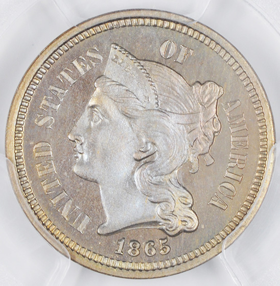 Picture of 1865 NICKEL 3CN PR67