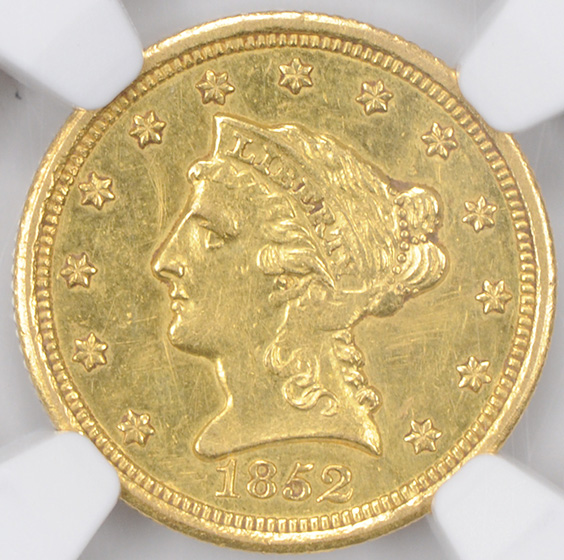 Picture of 1852-O LIBERTY HEAD $2.5 MS61