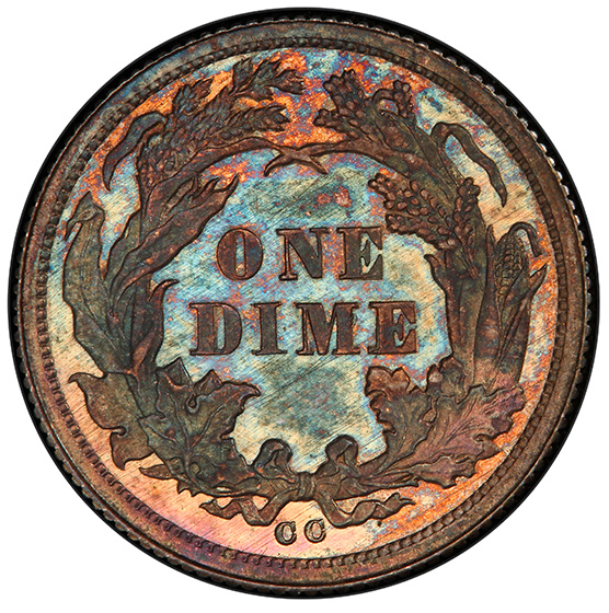 Picture of 1876-CC LIBERTY SEATED 10C SP66 Branch Mint