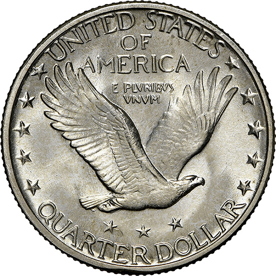 Picture of 1927-S STANDING LIBERTY 25C MS65 Full Head