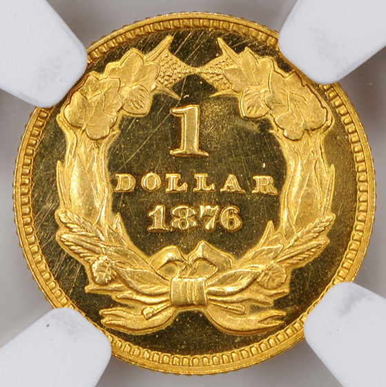 Picture of 1876 GOLD G$1, TYPE 3 PR66 Deep Cameo