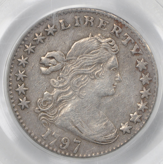 Picture of 1797 DRAPED BUST H10C, 13 STARS XF40