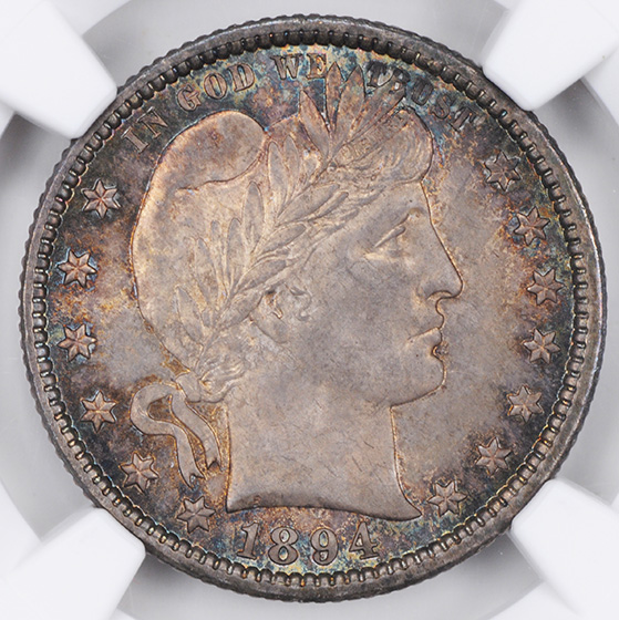 Picture of 1894-O BARBER 25C MS66