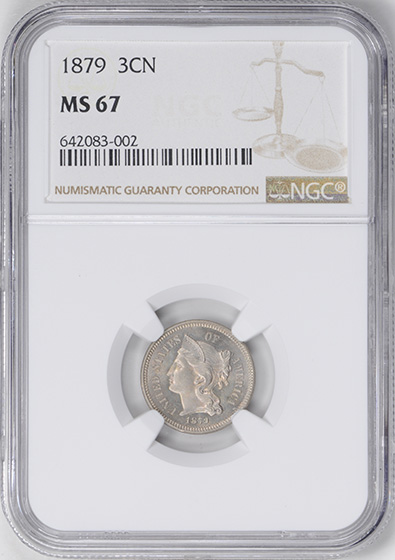 Picture of 1879 NICKEL 3CN MS67