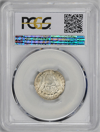 Picture of 1798/7 DRAPED BUST 10C, 16 STARS REVERSE MS65