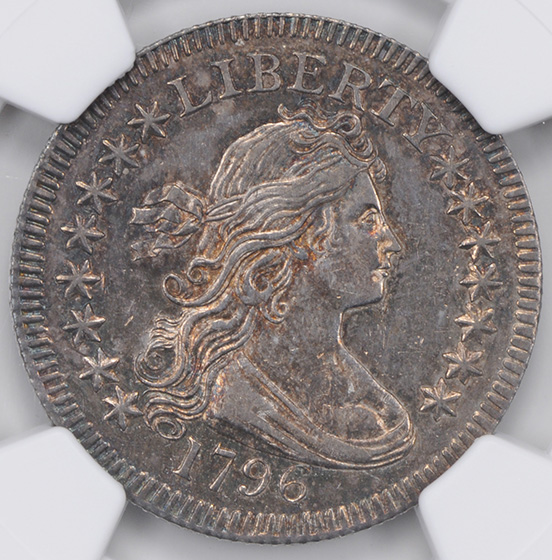 Picture of 1796 DRAPED BUST 25C, SMALL EAGLE MS63