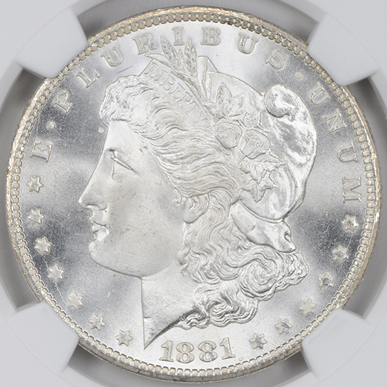 Picture of 1881-CC MORGAN S$1 MS68