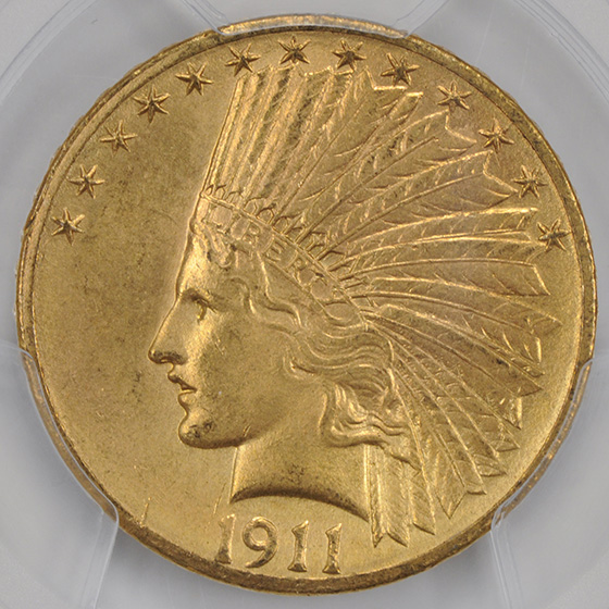 Picture of 1911-D INDIAN $10 MS64