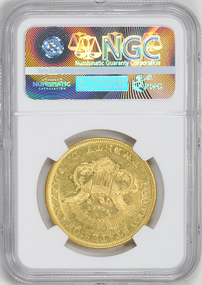 Picture of 1850-O LIBERTY HEAD $20 MS60