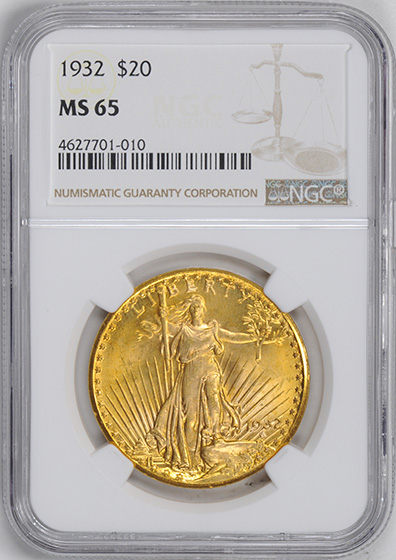 Picture of 1932 ST. GAUDENS $20 MS65