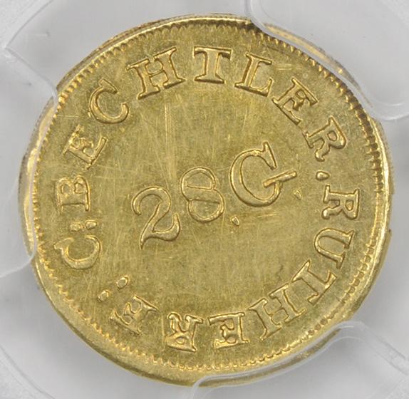 Picture of C BECHTLER $1, 28 GRAIN CENTER MS61