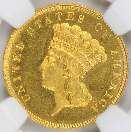 Picture of 1889 INDIAN PRINCESS $3 PR65 Cameo