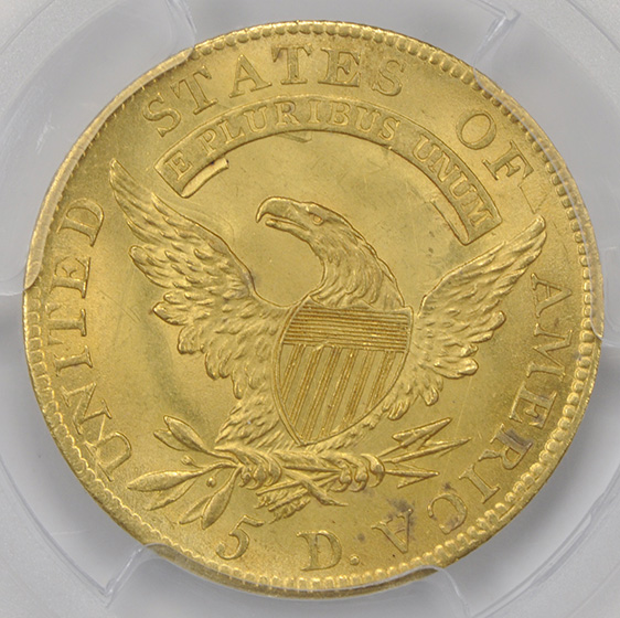 Picture of 1809/8 CAPPED BUST $5 MS65