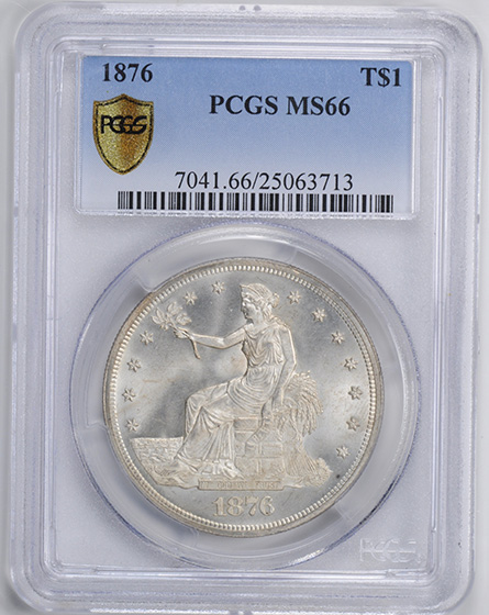Picture of 1876 TRADE T$1 MS66