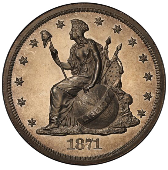 Picture of 1871 S$1 J-1133 PR64