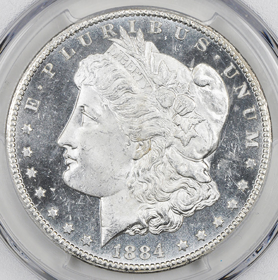 Picture of 1884-CC MORGAN S$1 MS65 DMPL