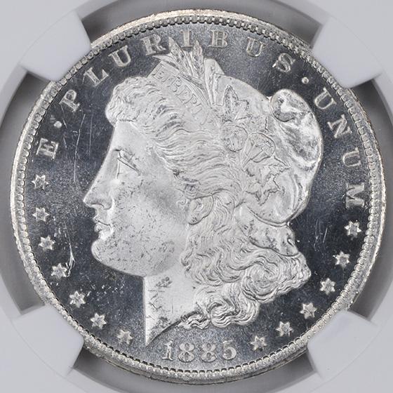 Picture of 1885-CC MORGAN S$1 MS66 DMPL