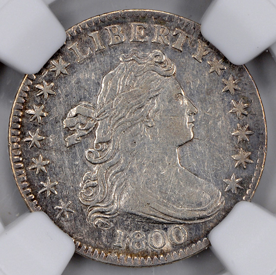 Picture of 1800 DRAPED BUST 10C AU55