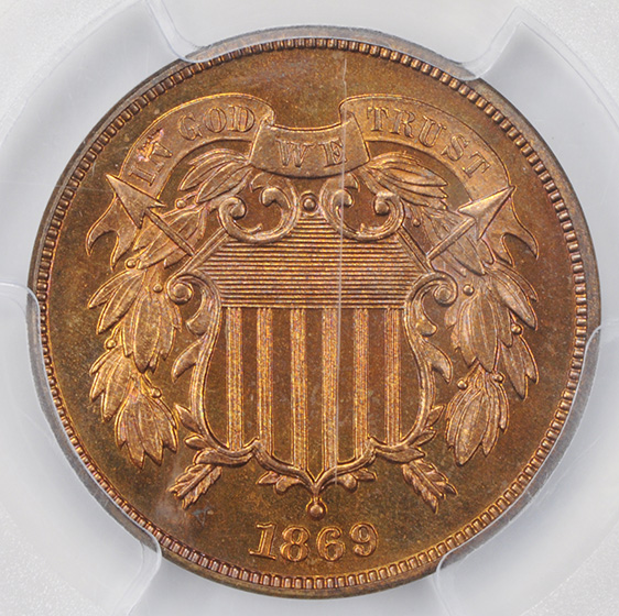 Picture of 1869 2C PR66 Red