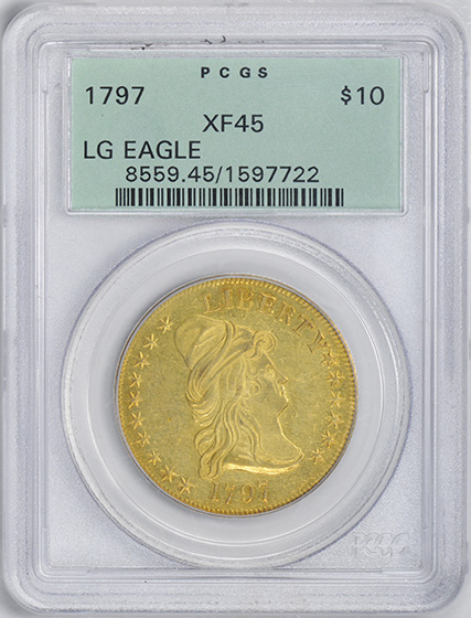 Picture of 1797 DRAPED BUST $10, LARGE EAGLE XF45