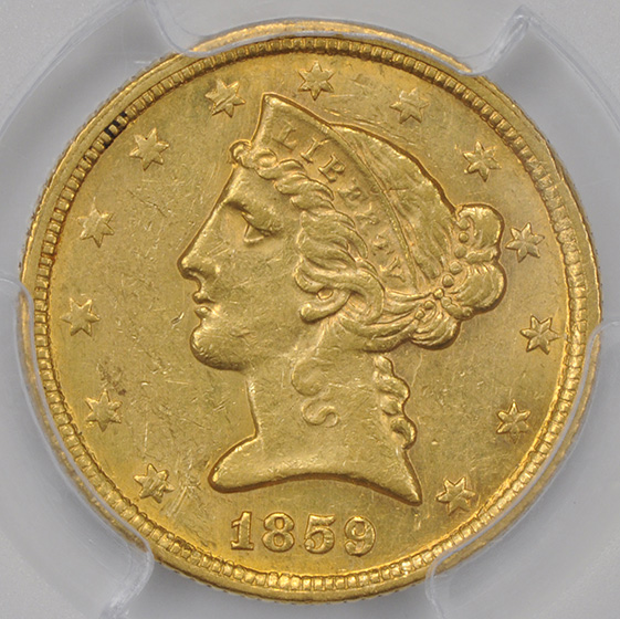 Picture of 1859-C LIBERTY $5 MS61