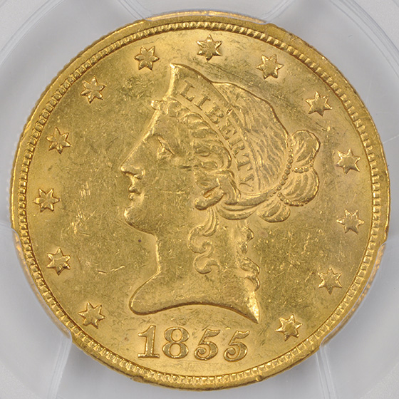 Picture of 1855 LIBERTY HEAD $10 MS61