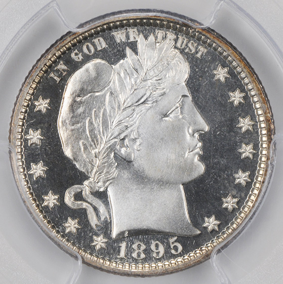 Picture of 1895 BARBER 25C PR68 Cameo