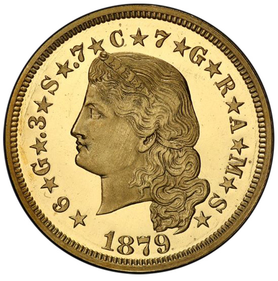Picture of 1879 $4 STELLA, FLOWING HAIR PR66 Deep Cameo