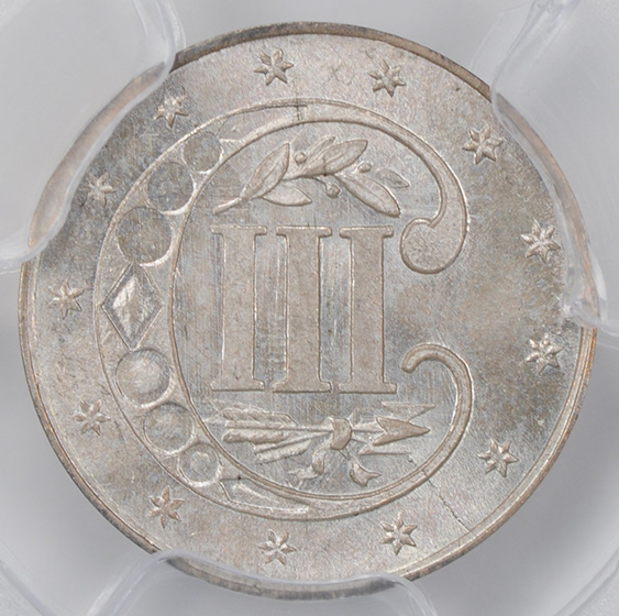 Picture of 1854 SILVER 3CS MS66