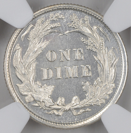 Picture of 1894 BARBER 10C PR68 Cameo